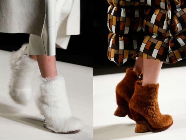 Меховая отделка обуви
