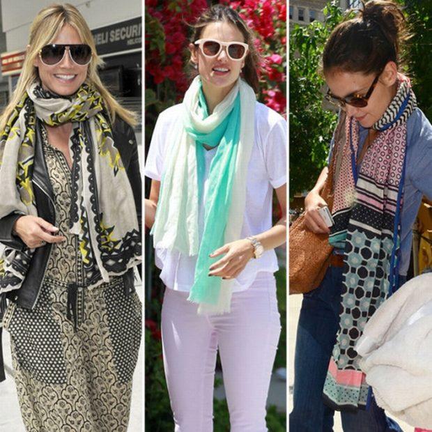 Модные принты шарфов