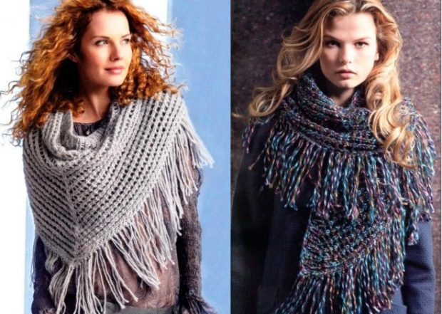 Стильные шарфы с бахромой