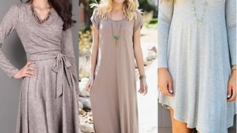 Платья на зиму 2017 . Модные тенденции . Фото
