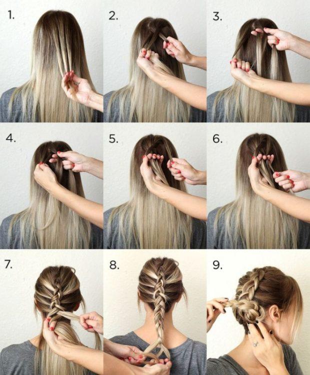 Как себе красиво заплести волосы пошаговое