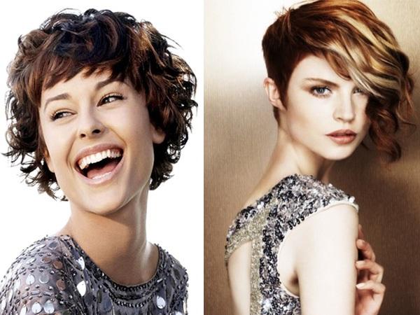 Короткая стрижка женская на вьющиеся волосы фото