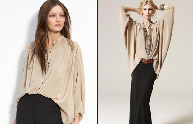 Блузки в стиле оверсайз