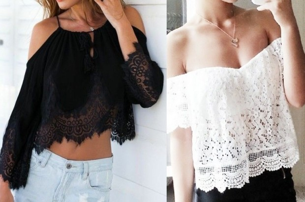 Блузки с открытыми плечами