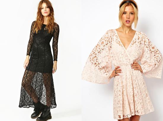 Ажурные платья с кружевами