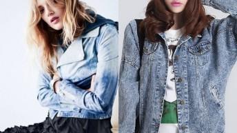 Джинсовые куртки женские : фото популярных фасонов