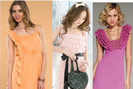 Платья с рюшами