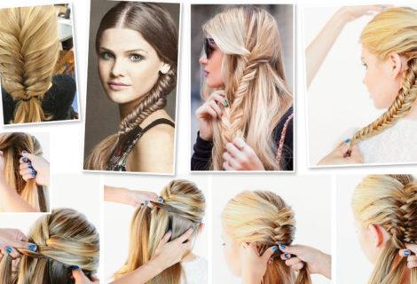 Как заплести косу самой себе : пошаговые инструкции