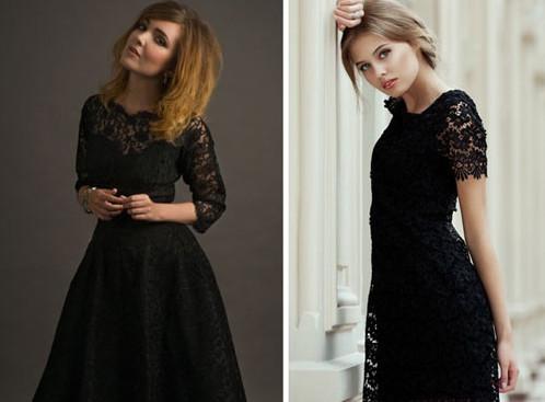 Кружевные женские платья