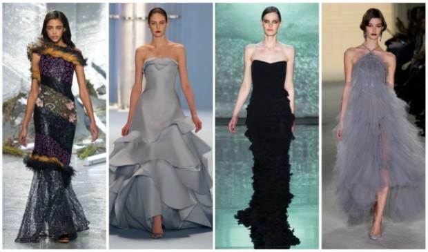 Платья с воланами