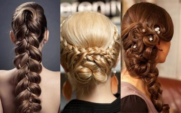 Модные причёски из кос фото