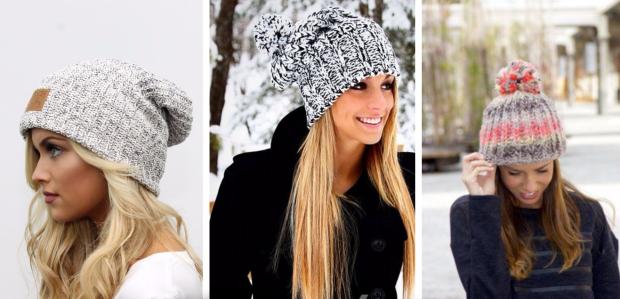 модная шапка-бини
