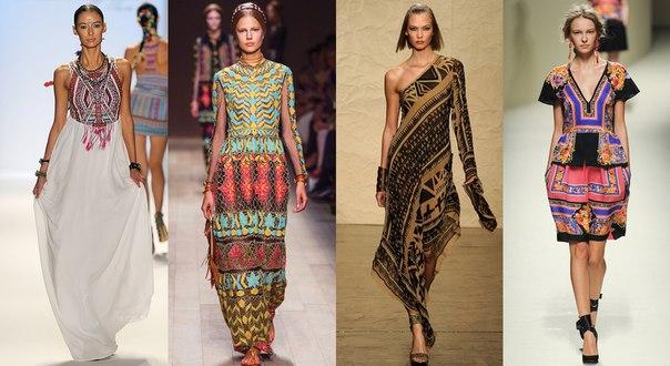 Платья в стиле фолк