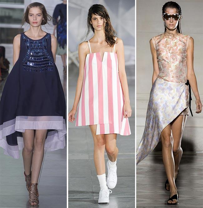 Платья с нежными волнами и складками