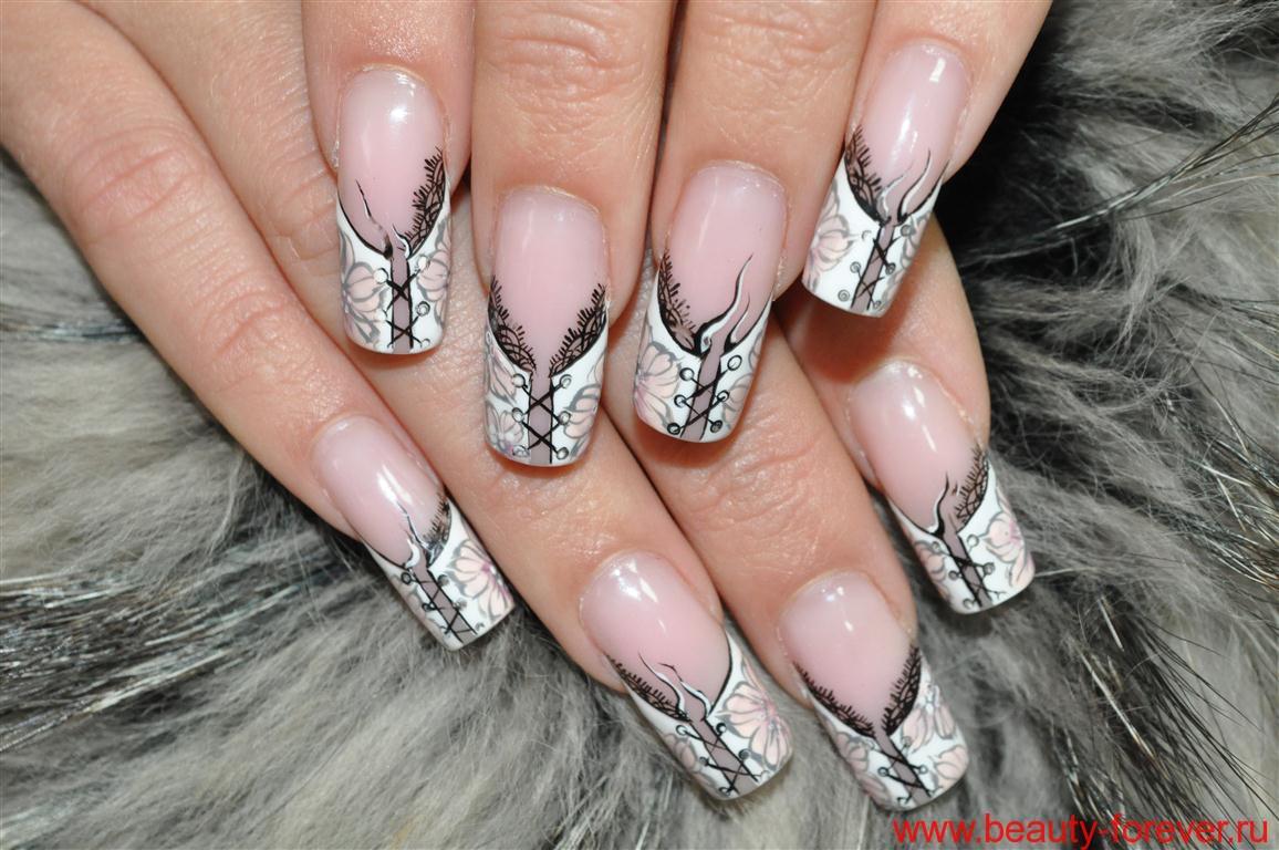 Элегантная шнуровка на ногтях