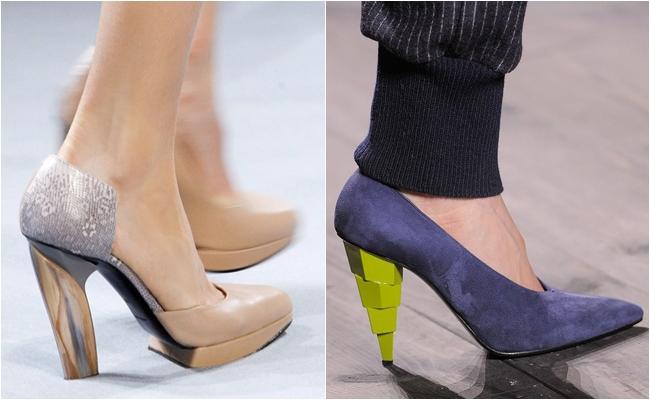 Обувь со скошенным каблуком