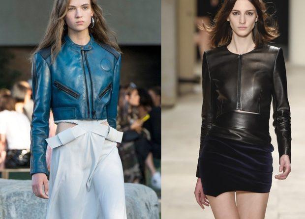 Модные куртки без воротника