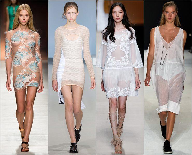 Модные полупрозрачные ткани