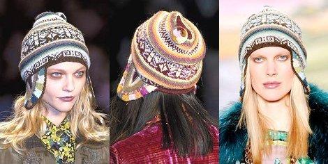 Стильные шапки с бахромой