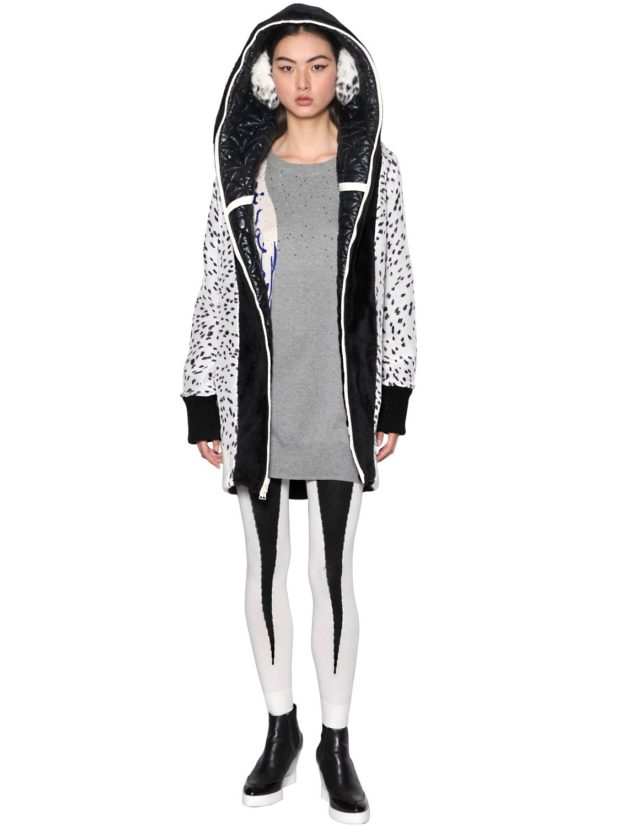 Стеганые пальто со вставками