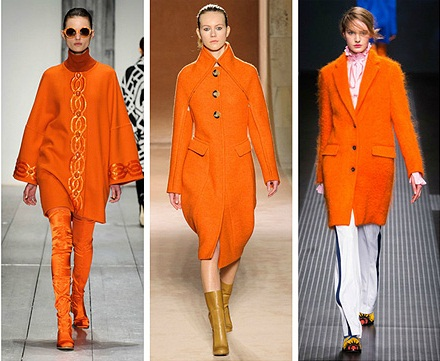 Оттенки оранжевого