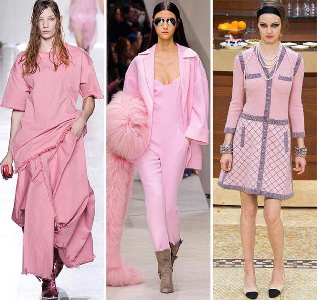 Модный розовый