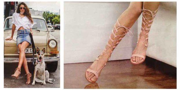 Модная обувь лето