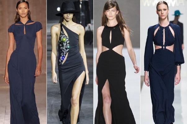 Платья с вырезами