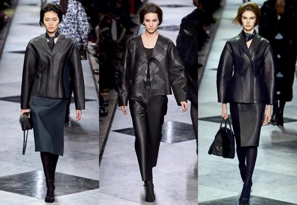 Объемные кожаные куртки