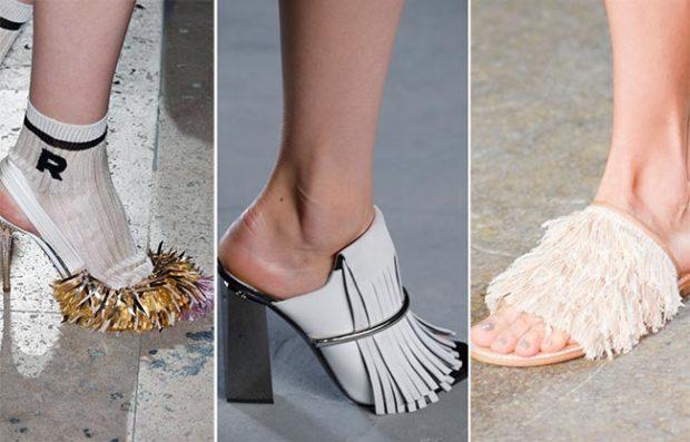 Обувь с бахромой