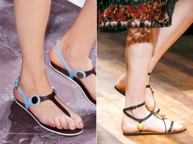 Обувь с Т-образной застежкой
