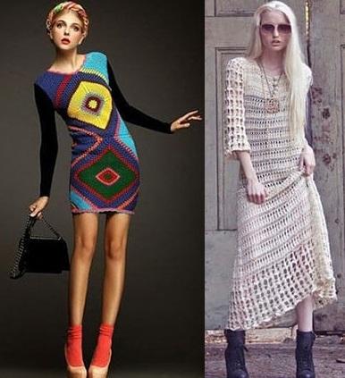 Вязаные платья