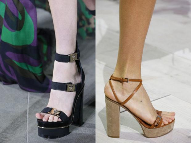 Обувь на широком каблуке