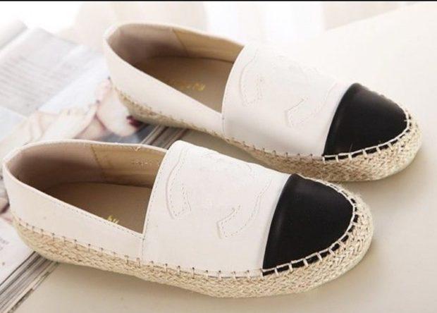 Обувь на плетеной платформе