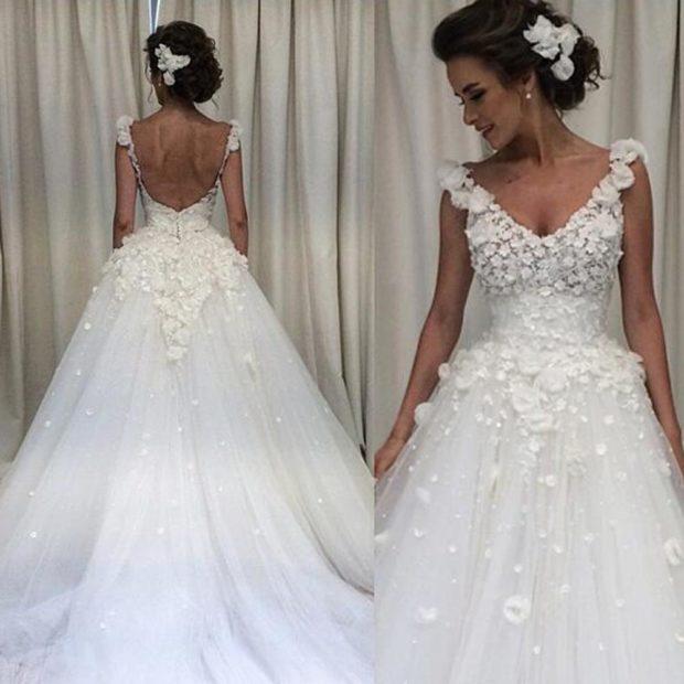 Платья с цветами-3D