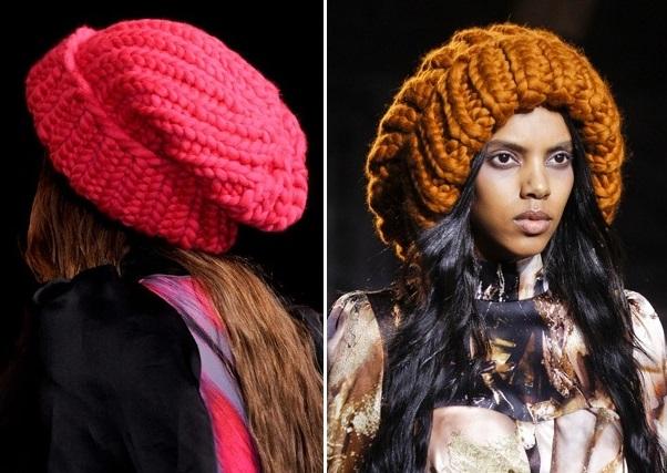 Объемные шапки-бини