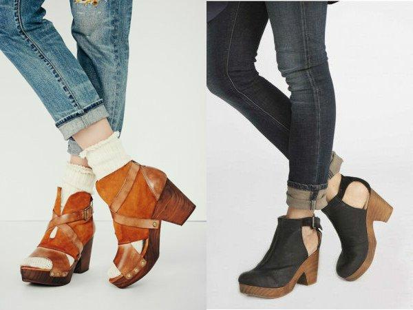 Обувь с открытой пяткой