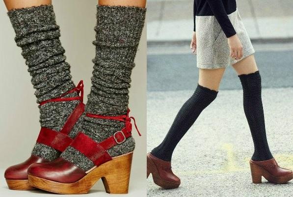 Обувь на деревянном каблуке