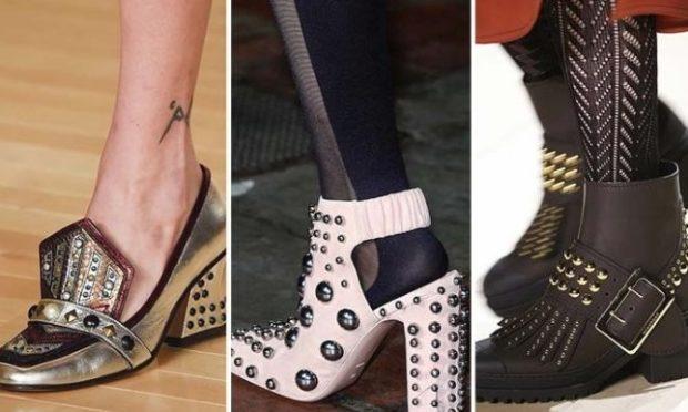 Обувь с металлическими заклепками