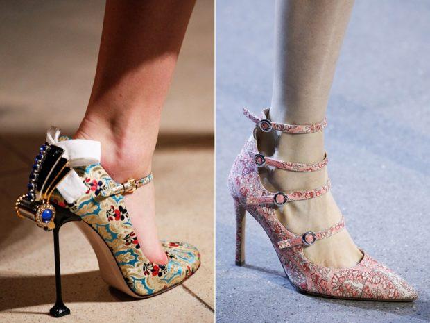 Обувь с цветочным принтом