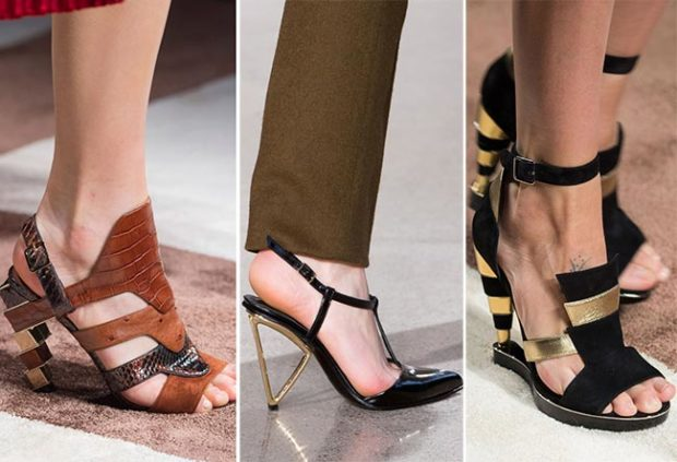 Туфли с нестандартными каблуками