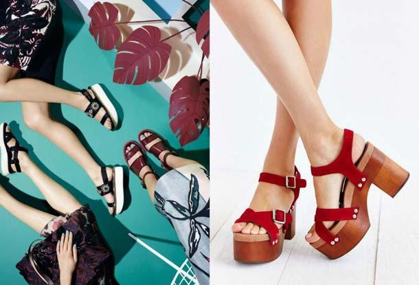 Оригинальные туфли на платформе