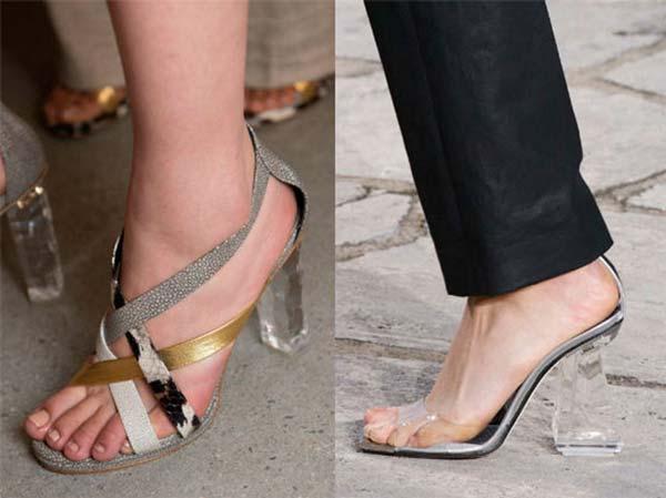 Туфли с прозрачным каблуком