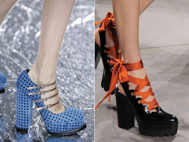 Модная обувь со шнуровкой
