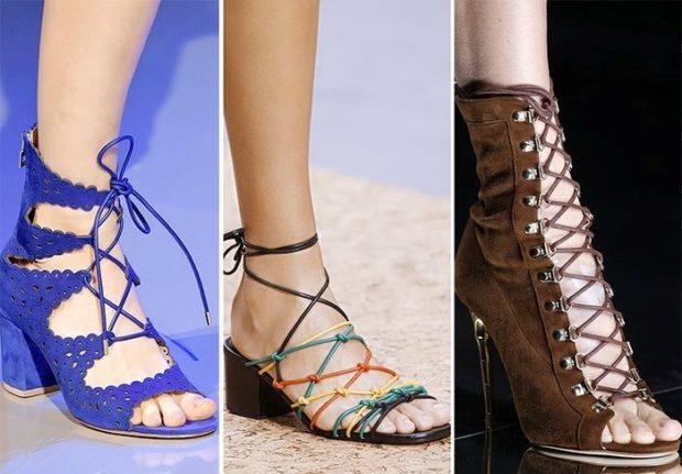 Шнуровка на туфлях