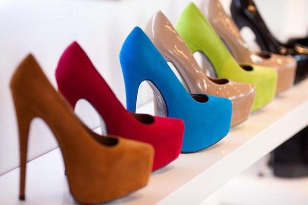 Цветовая гамма туфлей