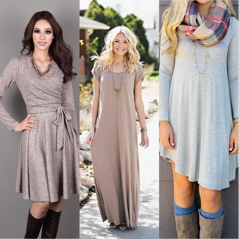Платья на зиму