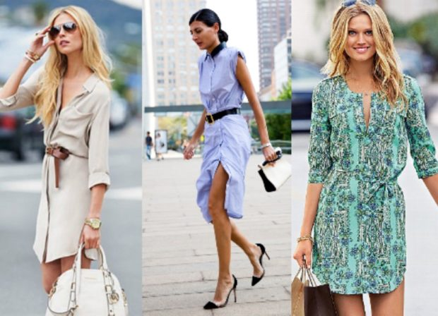 Стильные платья-рубашки