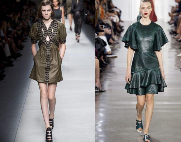 Кожаные платья
