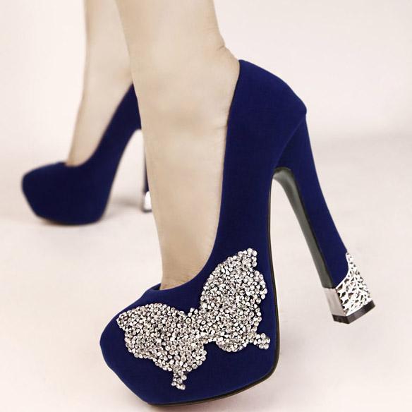 Туфли со стразами